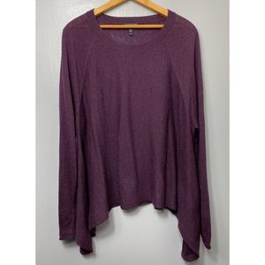 EILEEN FISHER Alpaca Blend Purple Tunic Sweater